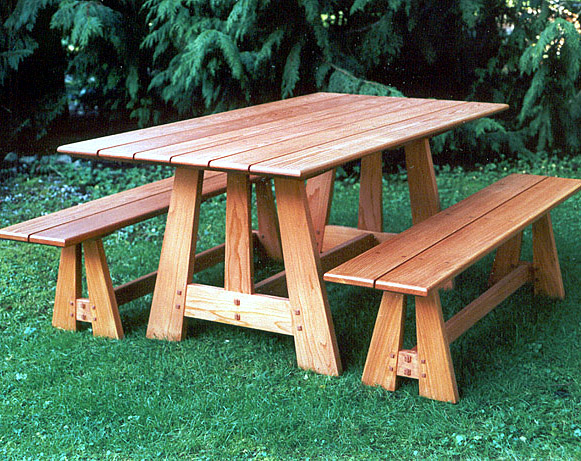 Woodworking cedar picnic table and bench plans PDF Free Download